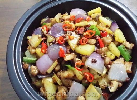 之味菜谱(179):西夏王外交使节赤霞珠干红葡萄酒配麻辣兔肉