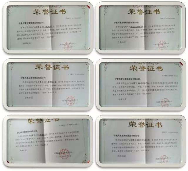 """【葡粹动态】6款西夏王产品喜获""""国家级评委选拔、品酒师鉴定""""考试用酒殊荣"""