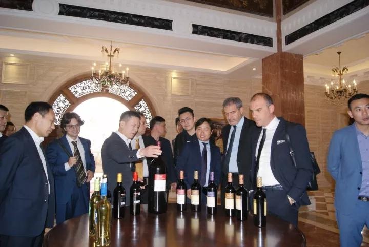 """意大利卡萨拉诺市长一行盛赞民权九鼎""""这是我见过的最漂亮的酒庄"""""""