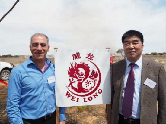 China's Weilong Strats Crushing At Austrain Winery
