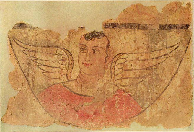 3(去掉水印)公元2-4世纪 斯坦因收集西域美术品 米兰古城遗址出土 有翼天使壁画 530.jpg